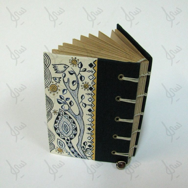Notebook with painted cover