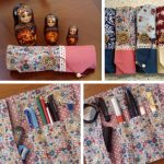 Handmade cloth pencil case